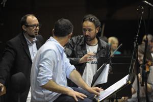 """През изминалите няколко дни протичат записите на музиката към новата продукция на Стефан Командарев """"Съдилището""""."""
