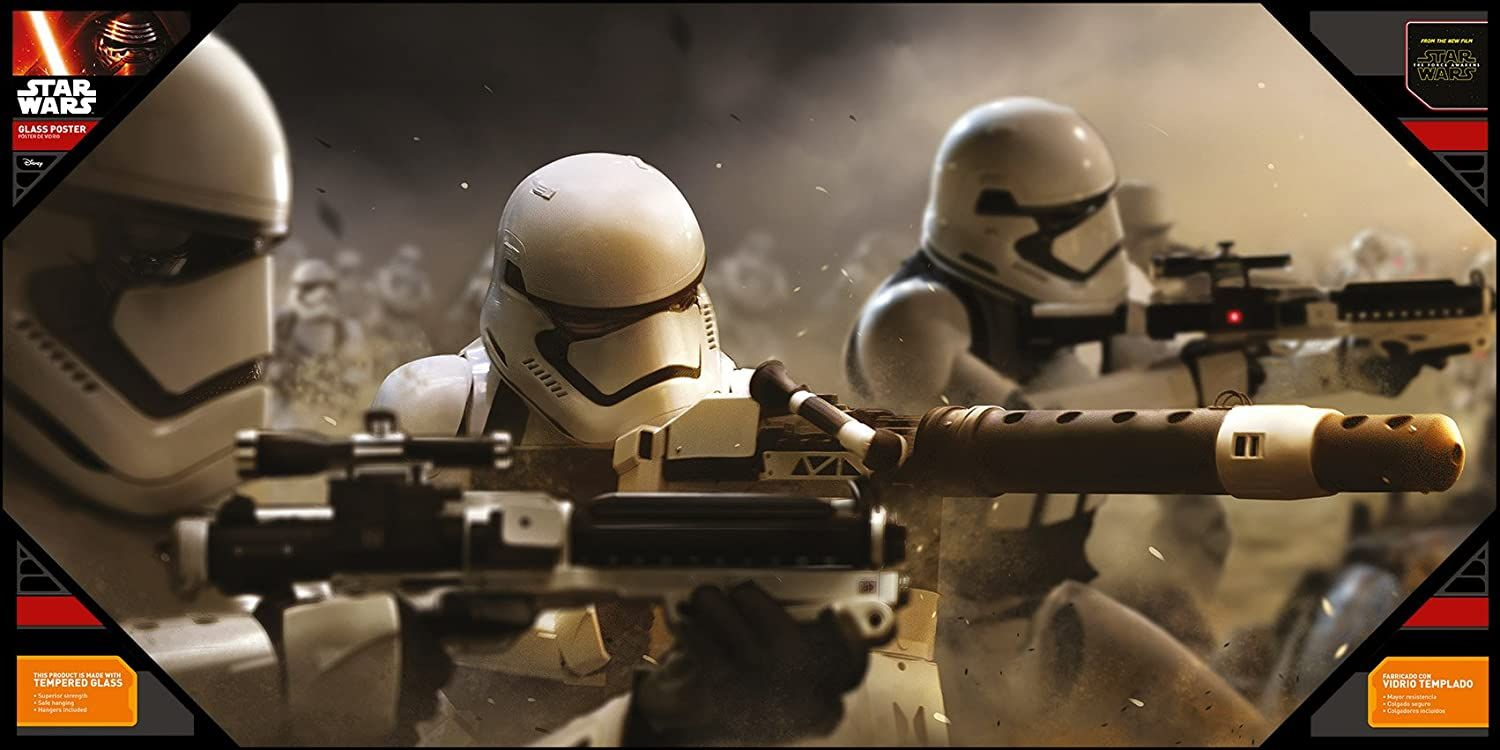 Стъклен плакат SD Toys Movies: Star Wars - Battle Stormtroopers